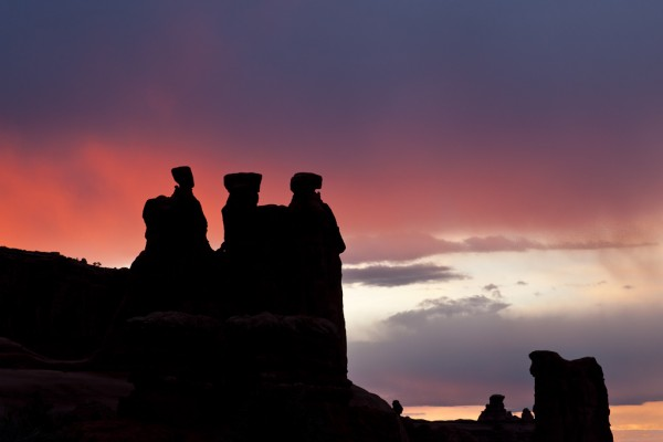 Three Gossips at Sunset