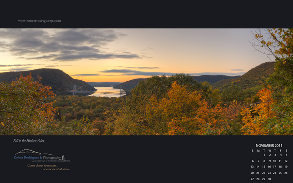 November 2011 Wallpaper - Fall in the Hudson Valley