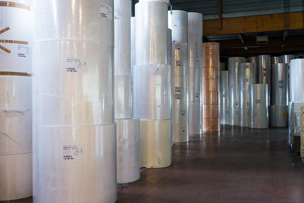 Rolls ready for distribution plant